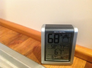 67 Degrees inside the house