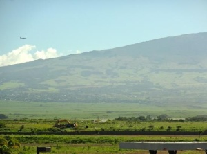 Haleakala Mountain, note the VOG!