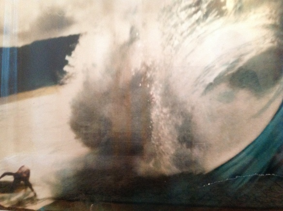 Mike Turkington at the bottom of the tube, Banzai Pipeline, Oahu